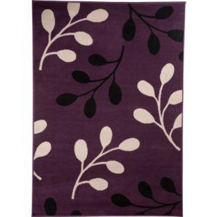 buy maestro rug 160x120cm plum at argoscouk your online