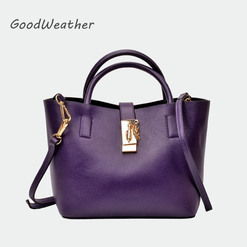 Fashion genuine leather handbags purple luxury handbag women bags designer  2018 designer female lady shoulder bags real leather