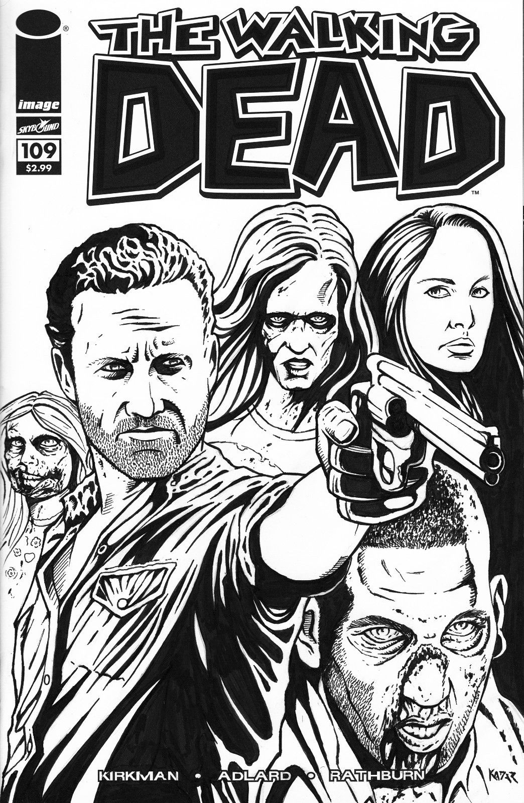 The coloring book of the dead - The Walking Dead Comic Book The Walking Dead Started As A Comic Book Series Created