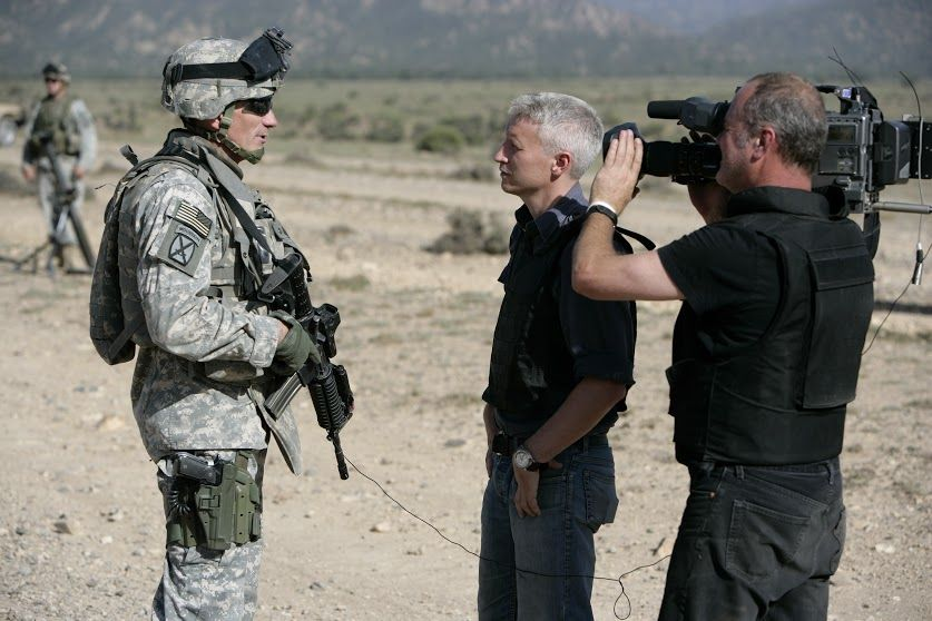 Paktika Province Fob Bermel Afghanistan Anderson Cooper And Field Producer Charlie Moore And Photojournalist Phillip Littleton Paktika Army Soldier Iraq War