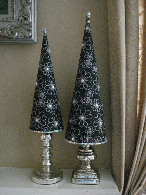 45 Cute Cone Shaped Christmas Trees Navidad Vintage Decoracion