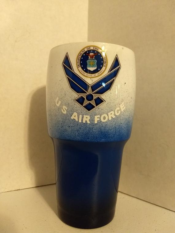 603a96f4dfd Military Custom 30oz Tumbler - Air Force, Marines, Army and Navy ...
