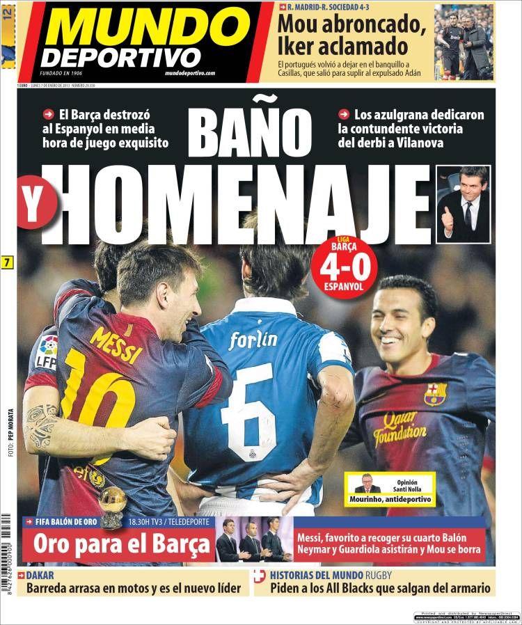 Titulares y Portada del 7 de Enero de 2013 del Diario