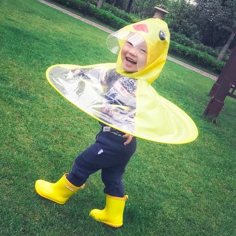 Pin On Kids Yellow Duck Raincoat Umbrella