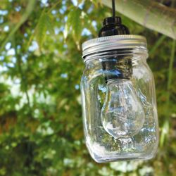 How to make an electrical Mason jar lamp. So easy!