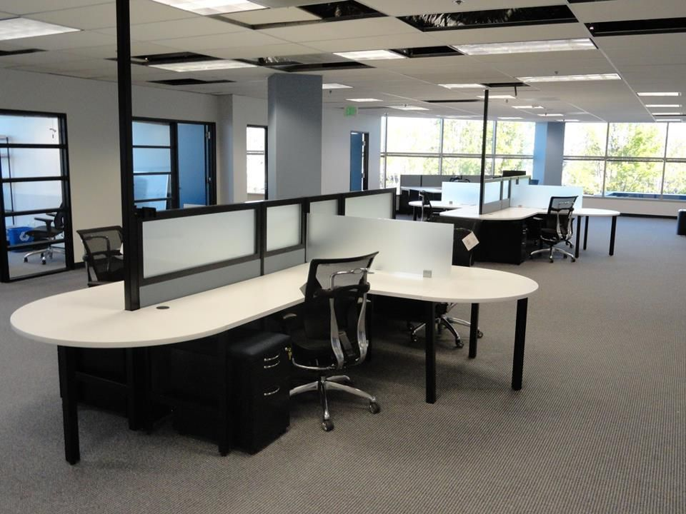 Modern Office Set Up A Customer Purchased From Workplace Emporium Looks Great