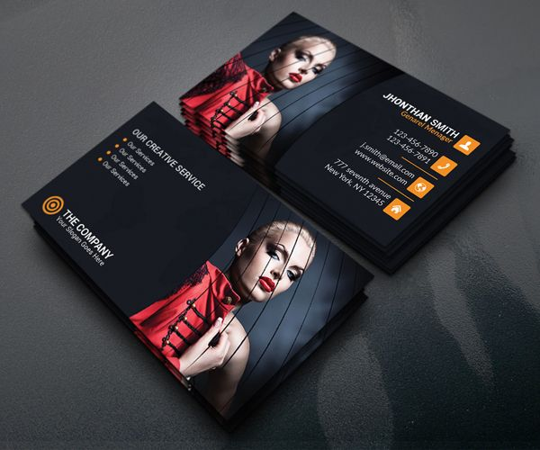 Free Photography Business Card Template PSD   graphic design     Free Photography Business Card Template PSD