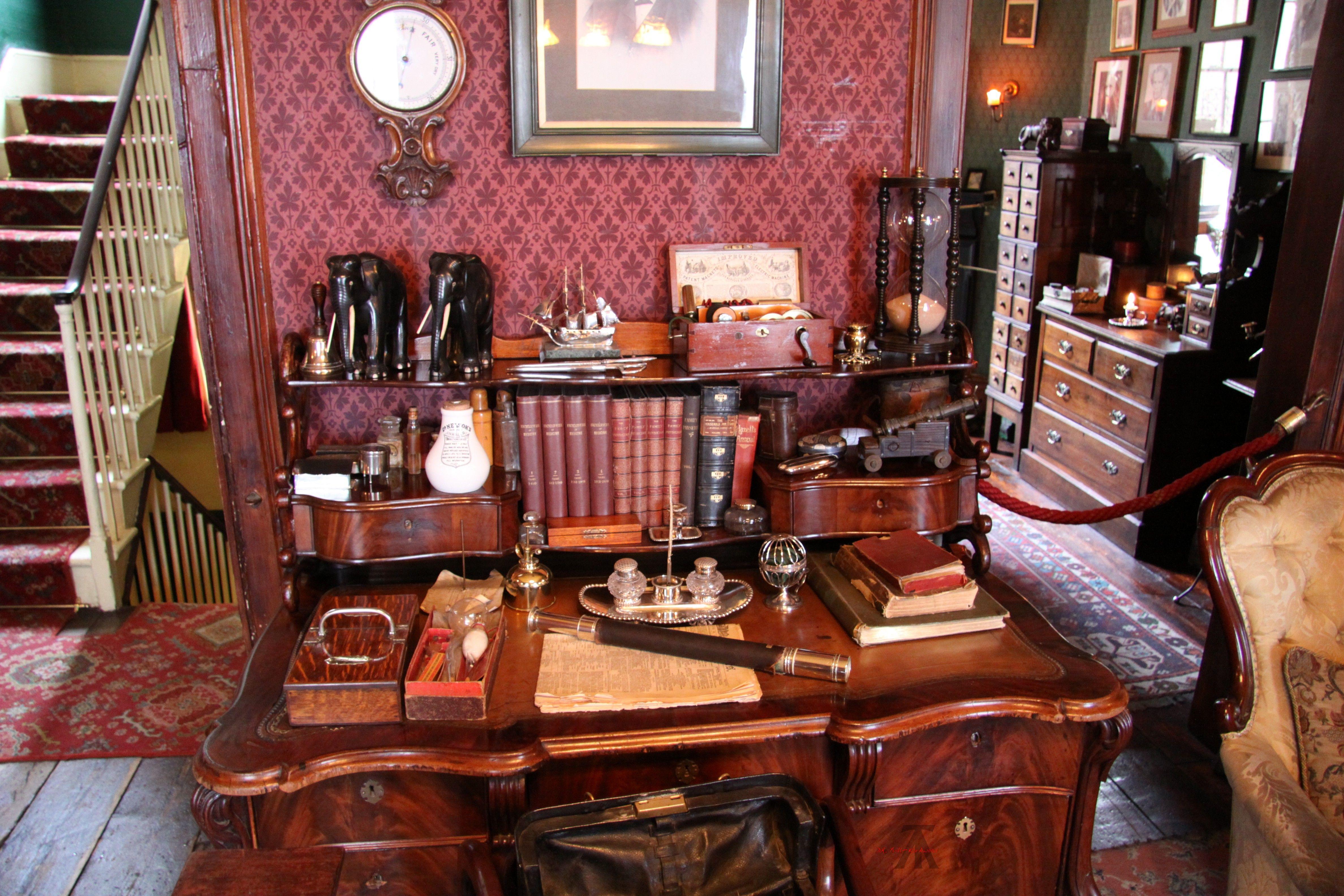 Sherlock Holmes Museum Dr Watson S Desk From Tranparent