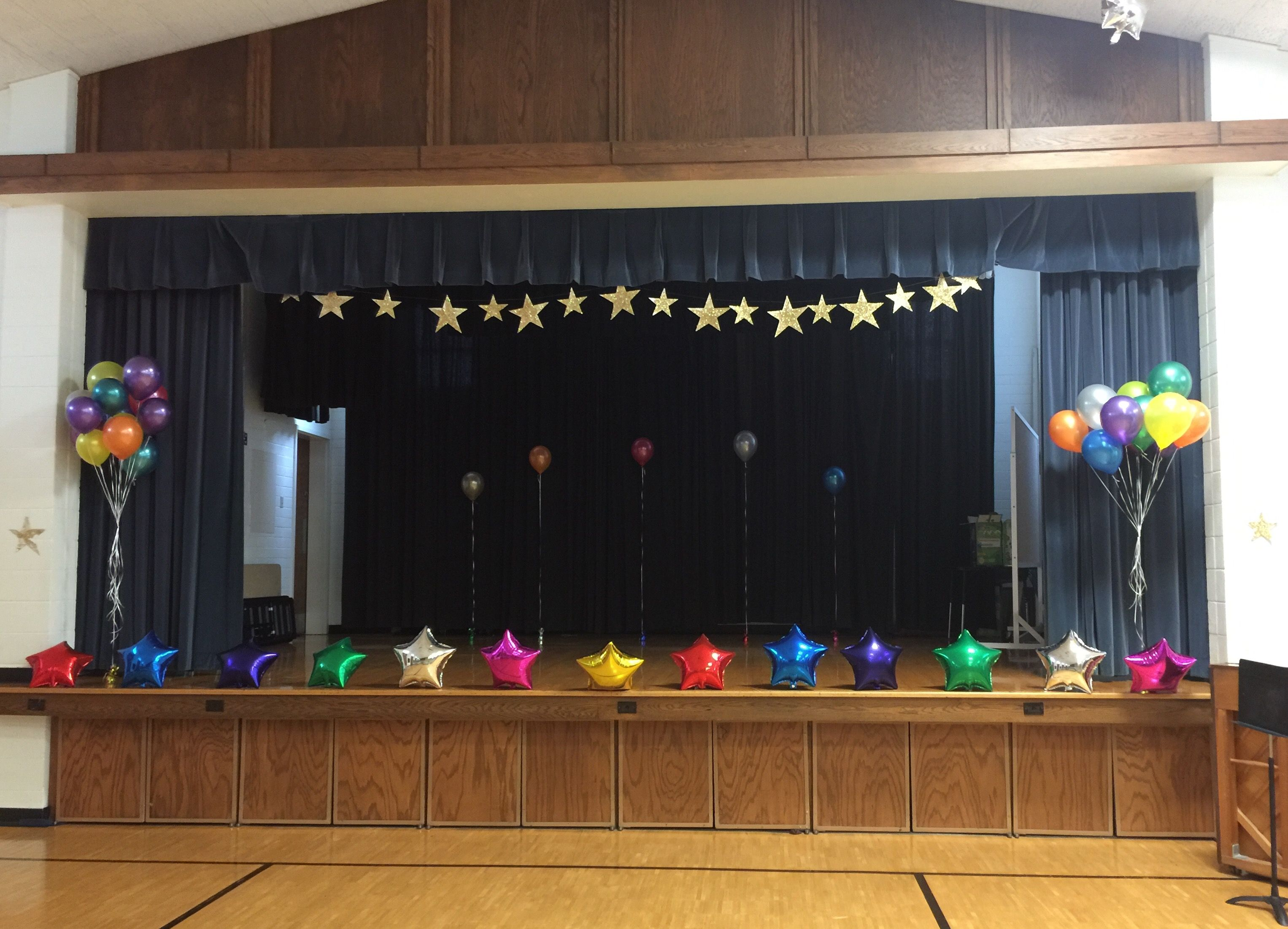 Irving 2nd ward talent show decorations by gail pre school stuff pinterest talent show - Kindergarten graduation decorations ...