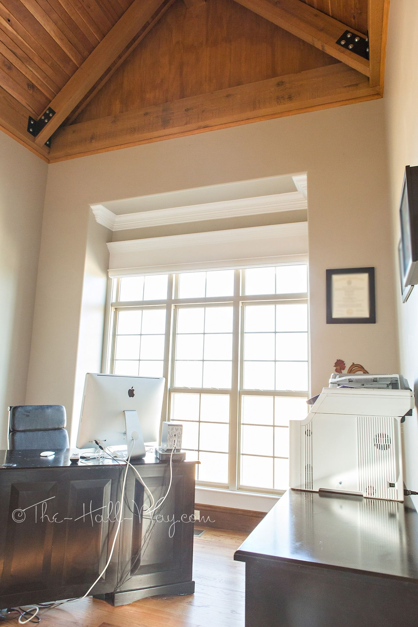 Office With Behr Perfect Taupe House Makeover Bedroom