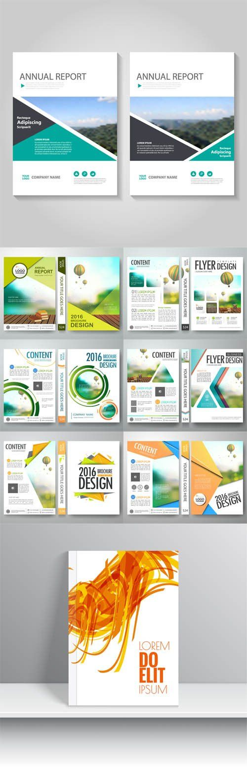 Vector Flyers design template brochure, annual report, poster