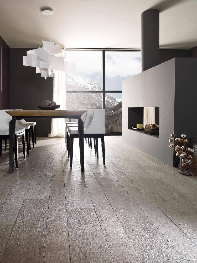 Seattle Acero Wood effect tiles, Contemporary kitchen
