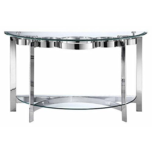 Stein World Furniture Mercury Demilune Sofa Table, Silver Finish/Glass |  Kitchen | Pinterest | Sofa Tables, Console Tables And Consoles