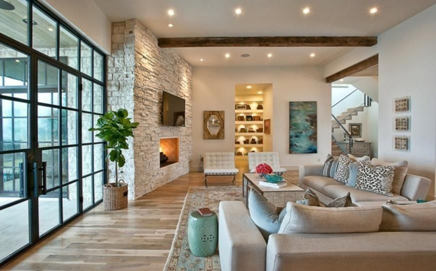 38 Perfect Living Room Smooth Stone Interior Walls Ideas Decor Renewal Stone Wall Living Room Stone Interior Perfect Living Room Decorative stones for living room