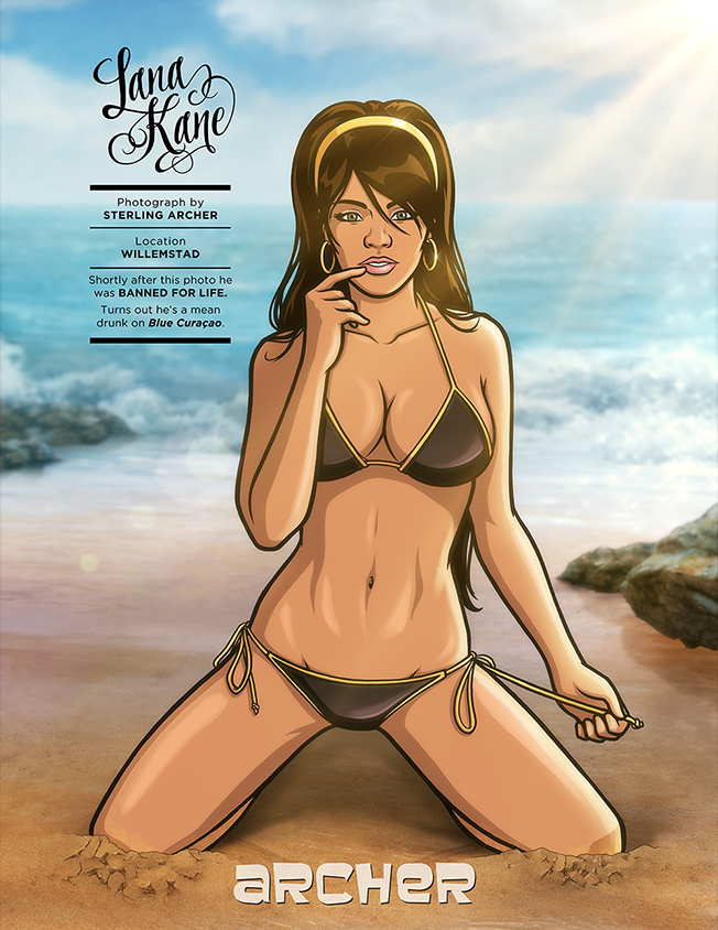Fx And Sports Illustrated Feature The Girls Of Archer Swimsuit Issue Style Archer Cartoon Archer Tv Show Archer Swimsuit