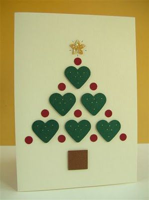 Cute christmas tree diy pinterest navidad tarjetas - Manualidades tarjeta navidena ...