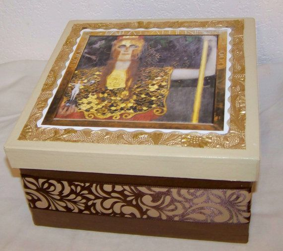 Decorative Keepsake Box Prepossessing Goddess Decorative Keepsake Box Gustavartthroughgrief On Etsy Design Ideas
