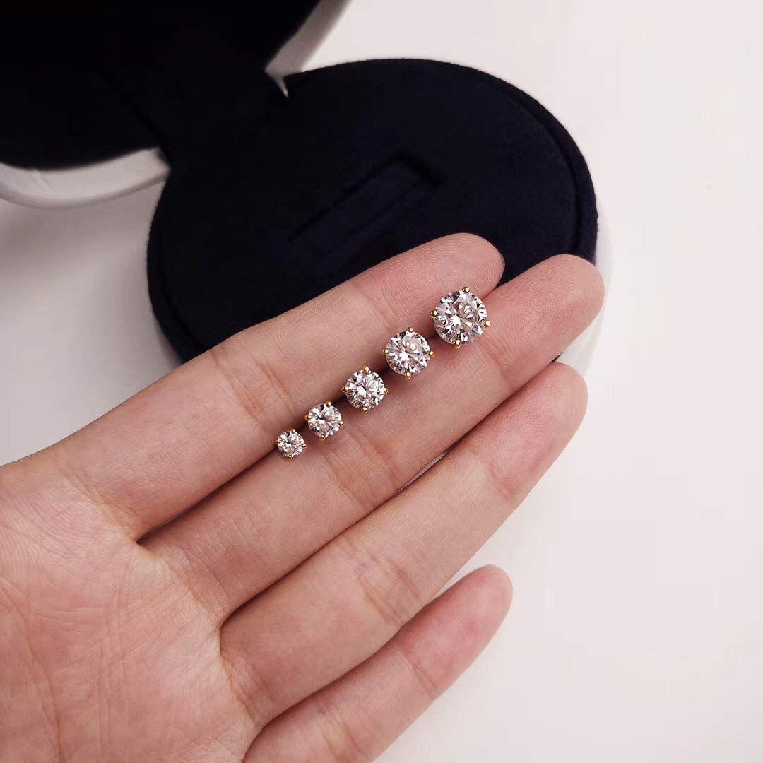 YAZILIND Elegant White Cubic Zirconia Pendant Hoop Earrings Hypoallergenic Gold Plated for Women Girl