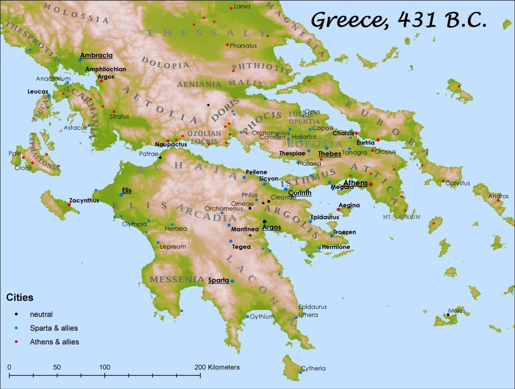 Here Is A Map Of What Greece Looked Like During The
