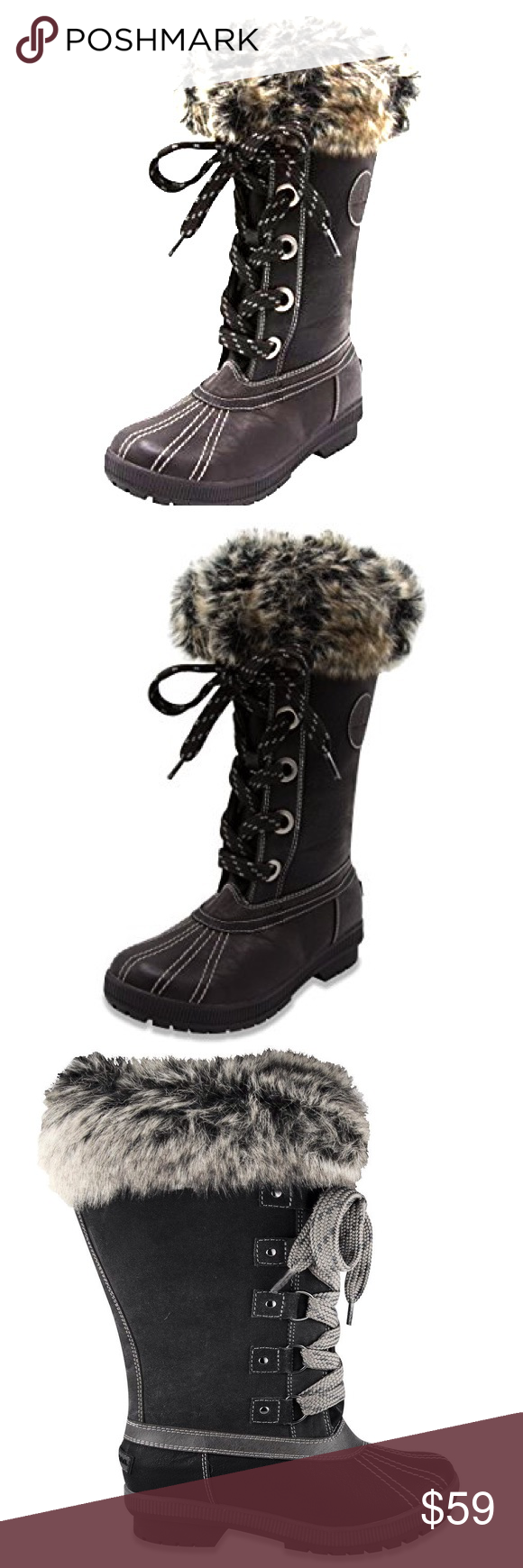 b4df9629550 London Fog Melton Cold Weather Waterproof SnowBoot London Fog Womens Melton  Cold Weather Waterproof Snow Boot London Fog Shoes Winter   Rain Boots