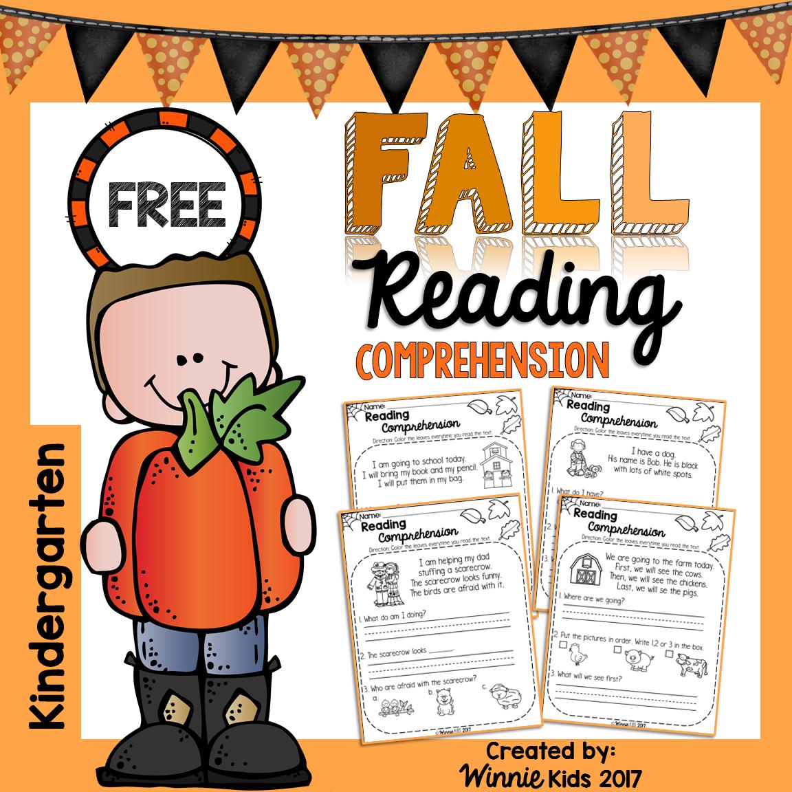 Free Kindergarten Reading Comprehension Passages