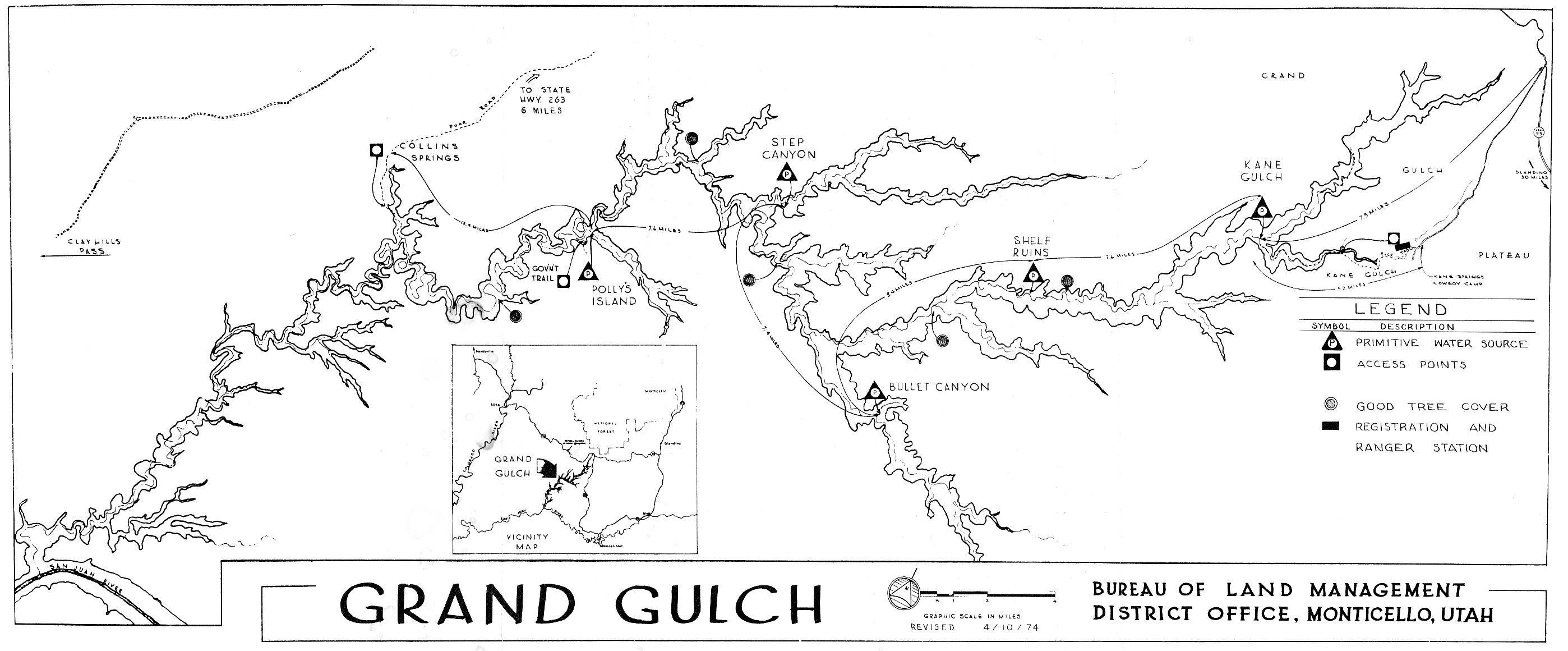 Grand Gulch Map