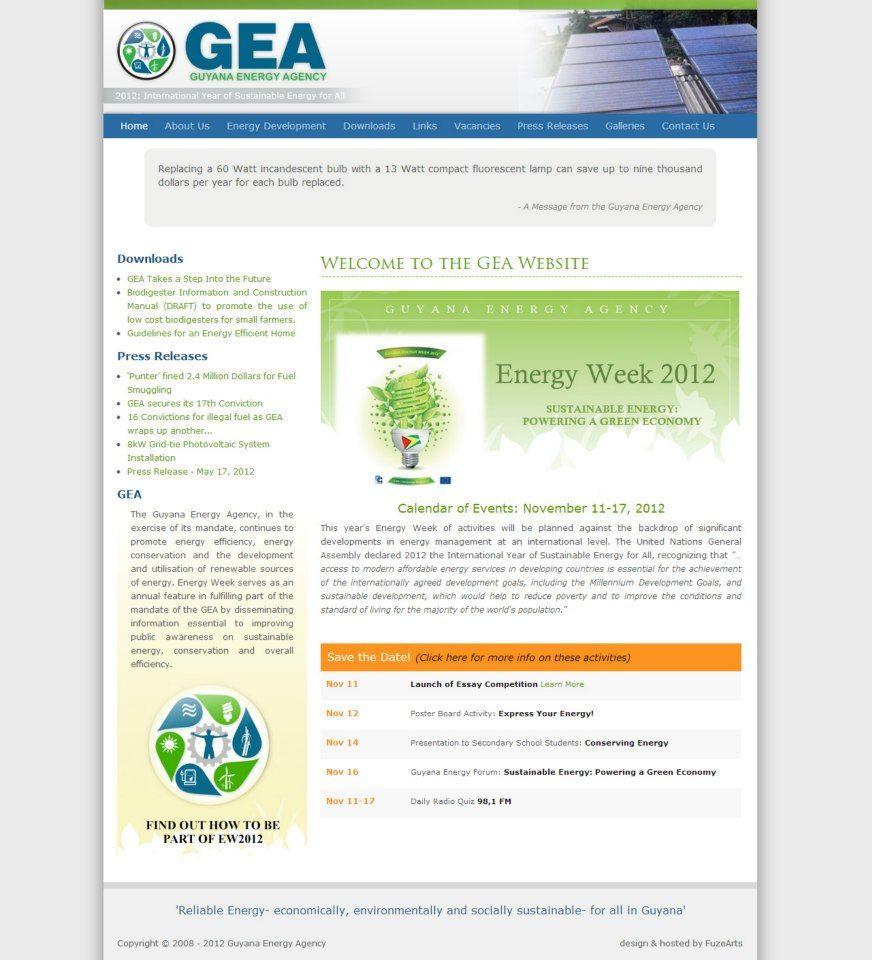 A Web Site For The Guyana Energy Agency Energy Development