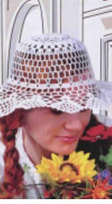 Materiales gráficos Gaby  Sombreros en crochet con patrones ... 3eefca56e24