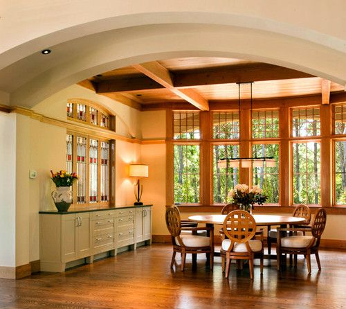 English Arts And Crafts Contemporary Dining Room