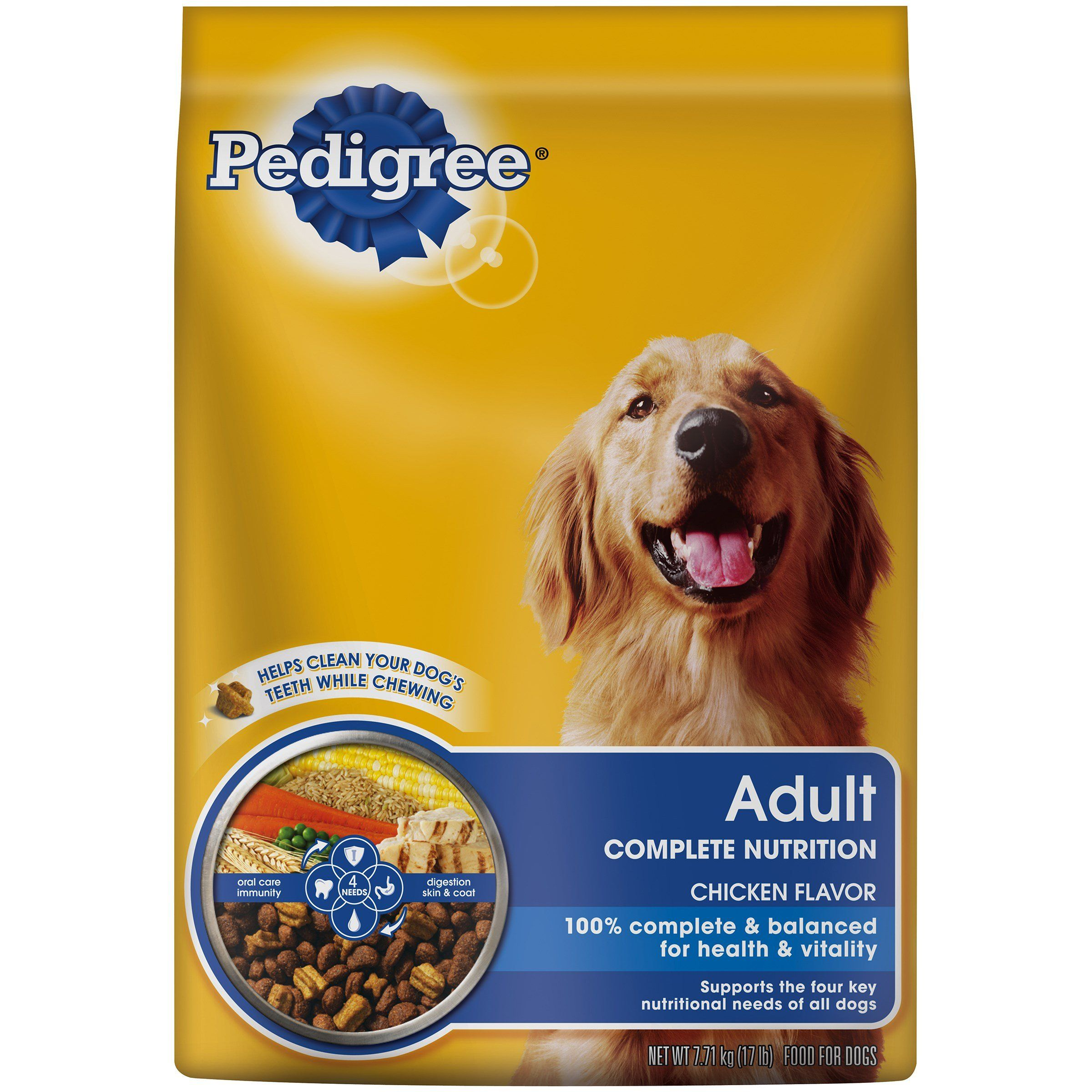 Pedigree 20 Lb Small Beef Bites Complete Nutrition Click Image