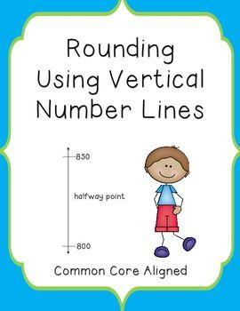 rounding using vertical number lines elementary math k 6 math rh pinterest ch