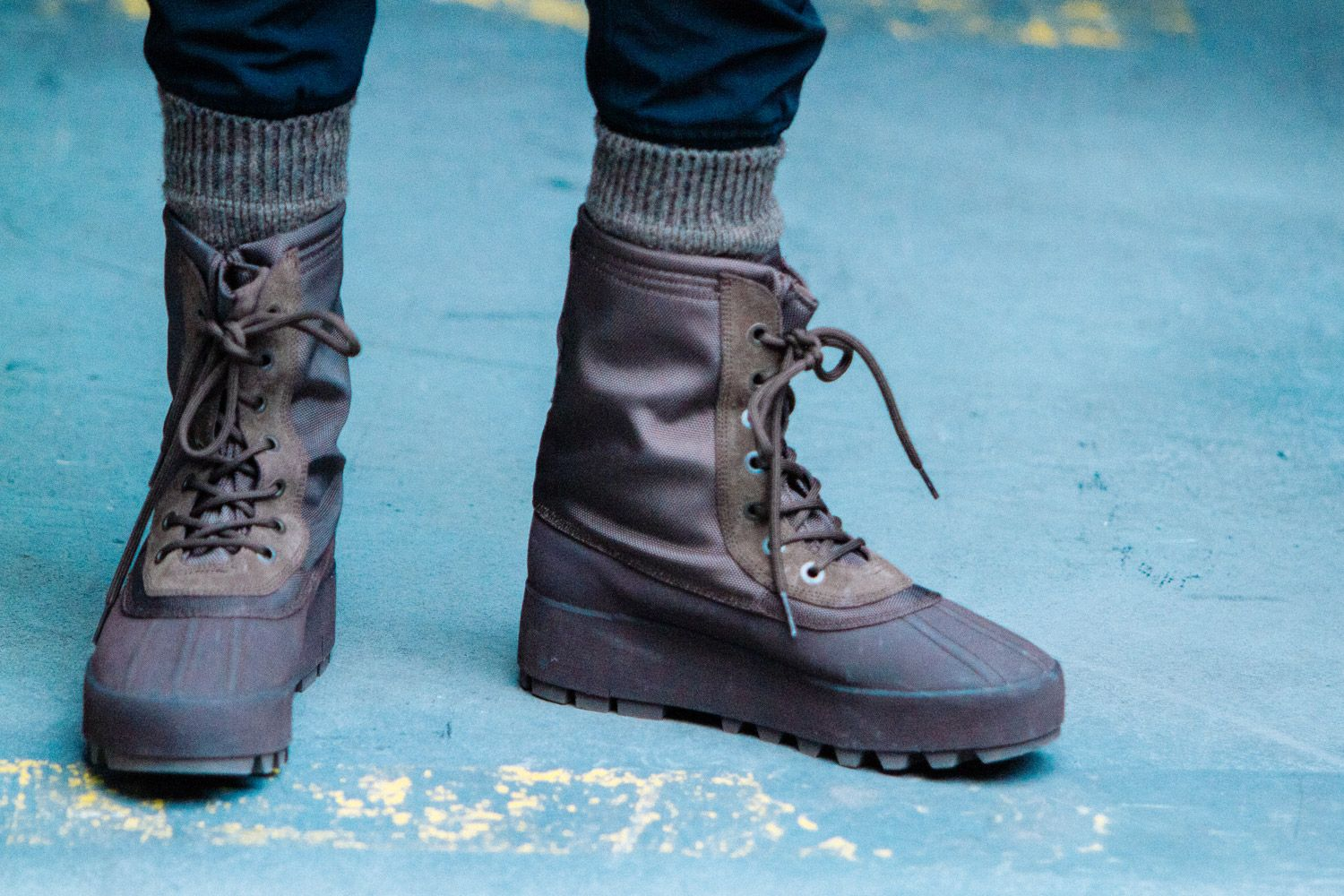 Kanye West Debuts More Adidas Yeezy Footwear At New York Fashion Week Highsnobiety Yeezy Boots Boots Kanye West Adidas
