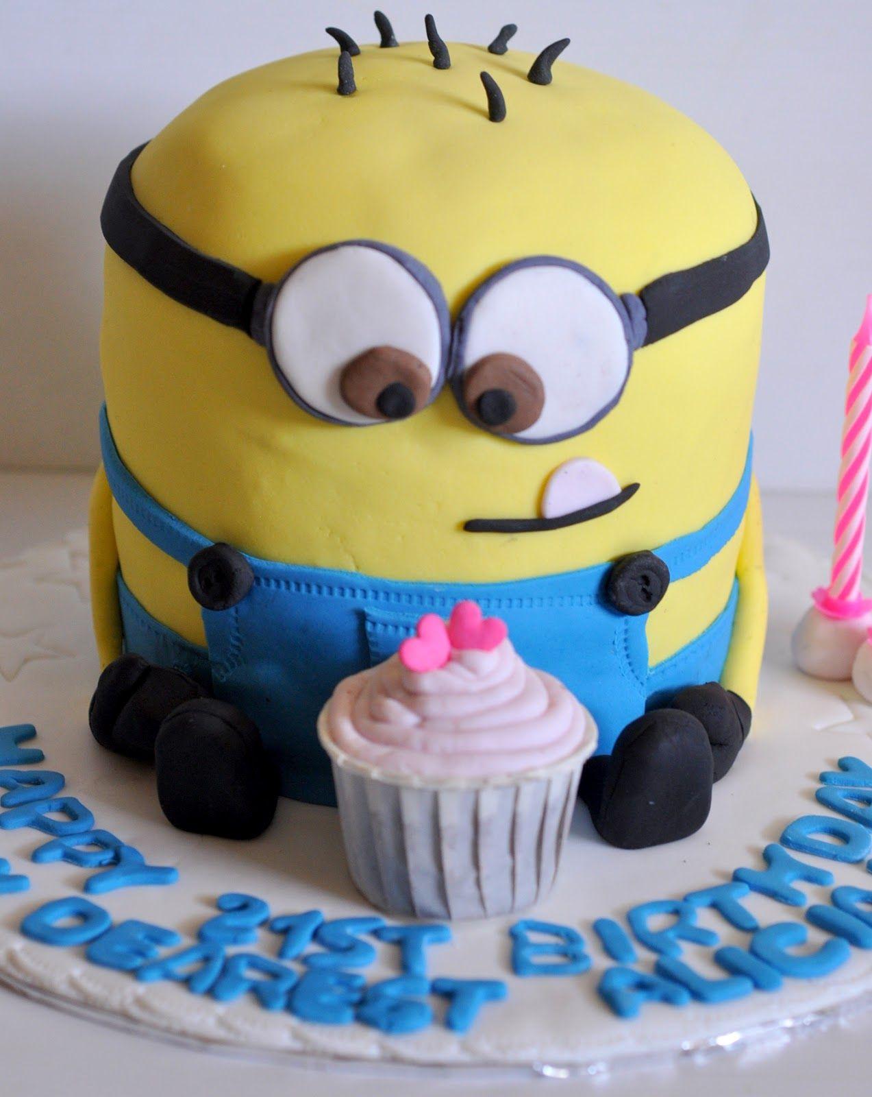 Izahs Kitchen Despicable Me Birthday Cake Cool Cakes Pinterest