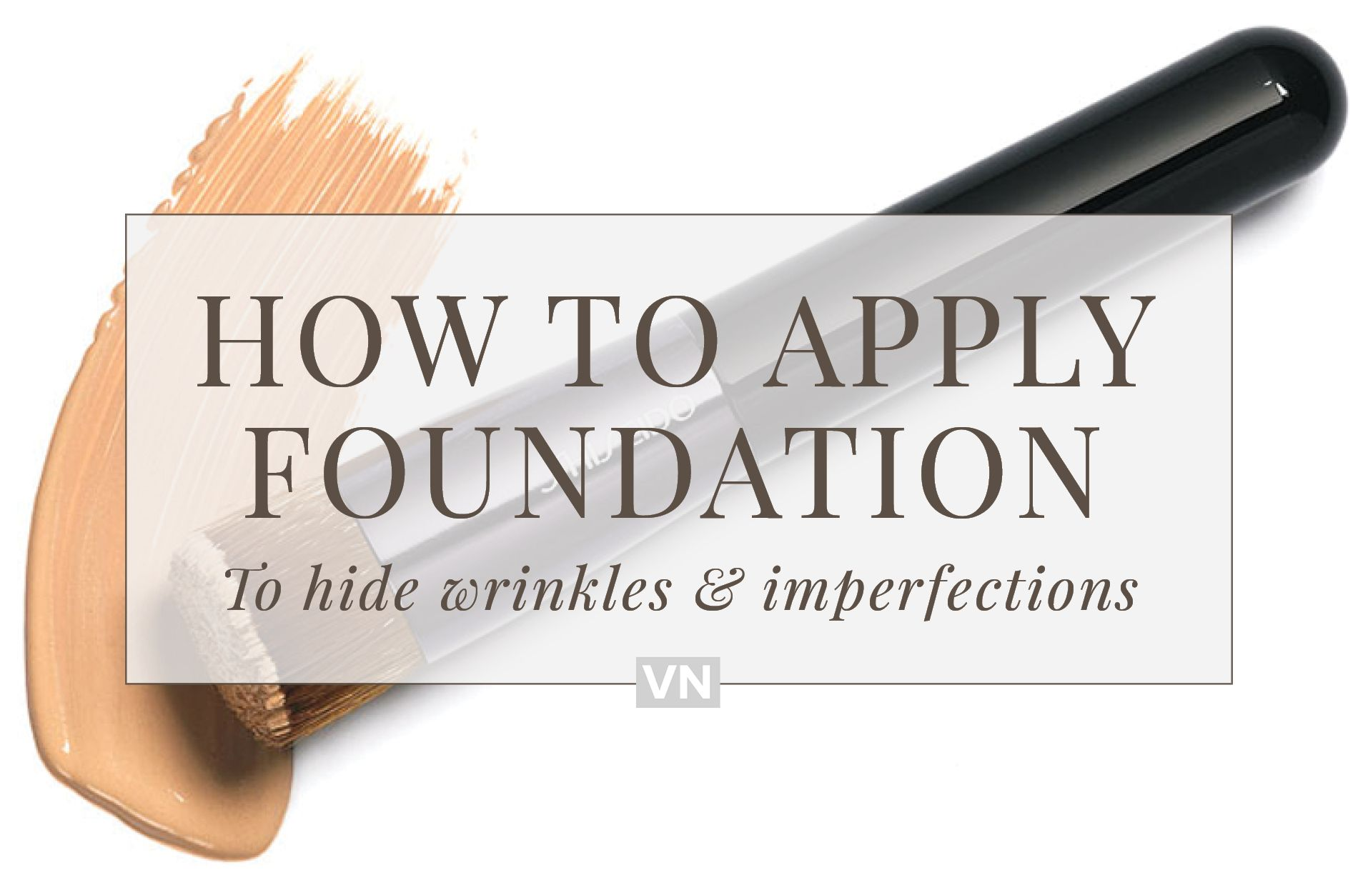 How to apply foundation to hide wrinkles + imperfections