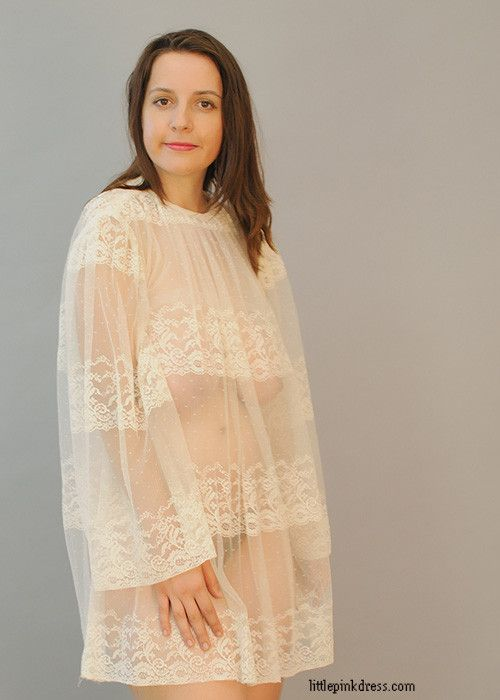 Sheer Ivory Negligee Coverup Sheerfully Tasteful
