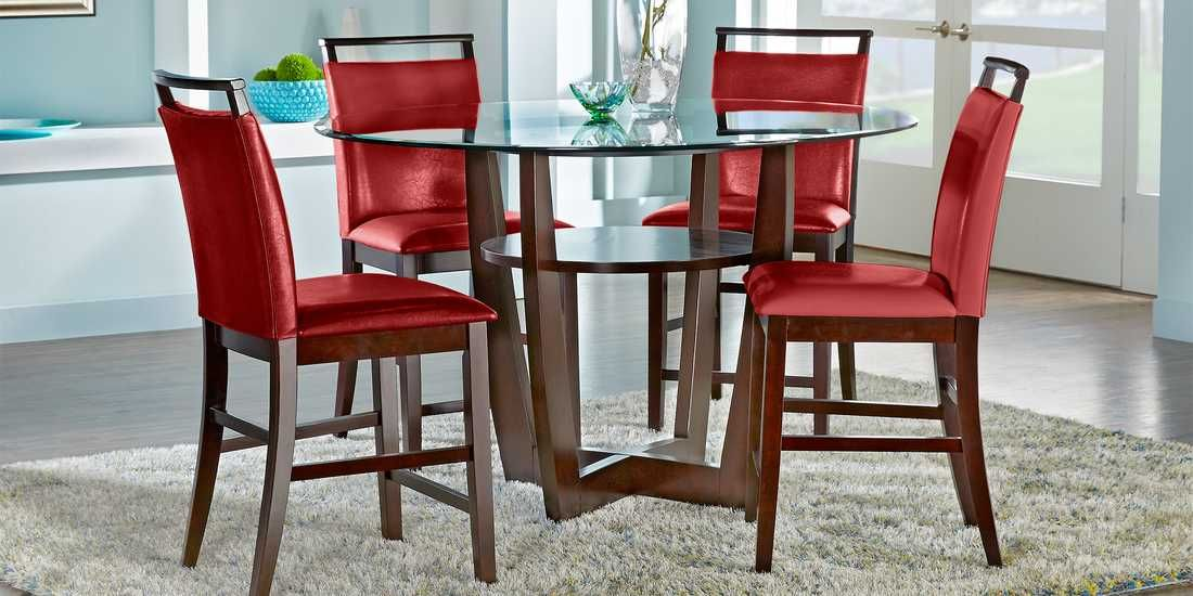 16++ Dining room set with red chairs Trend