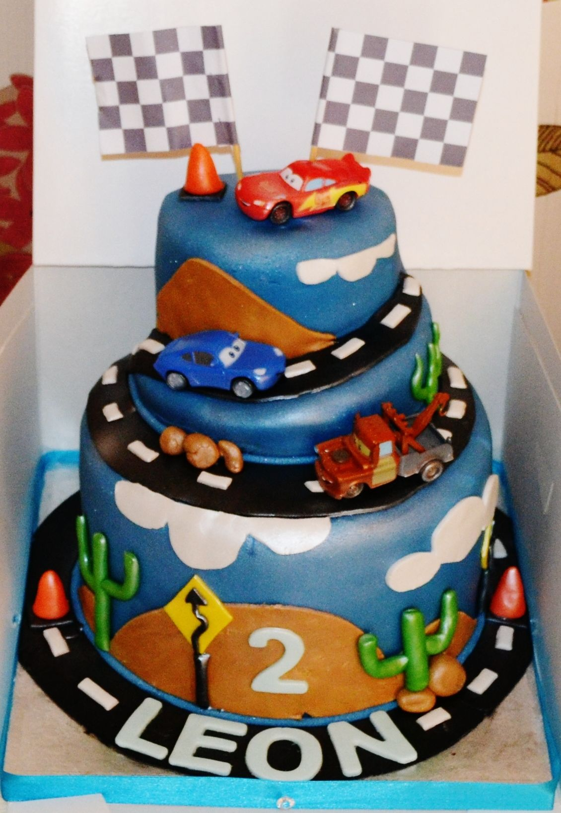 Disney Cars  Tier Cake Noahs  Pinterest Tiered Cakes - Birthday cake cars 2