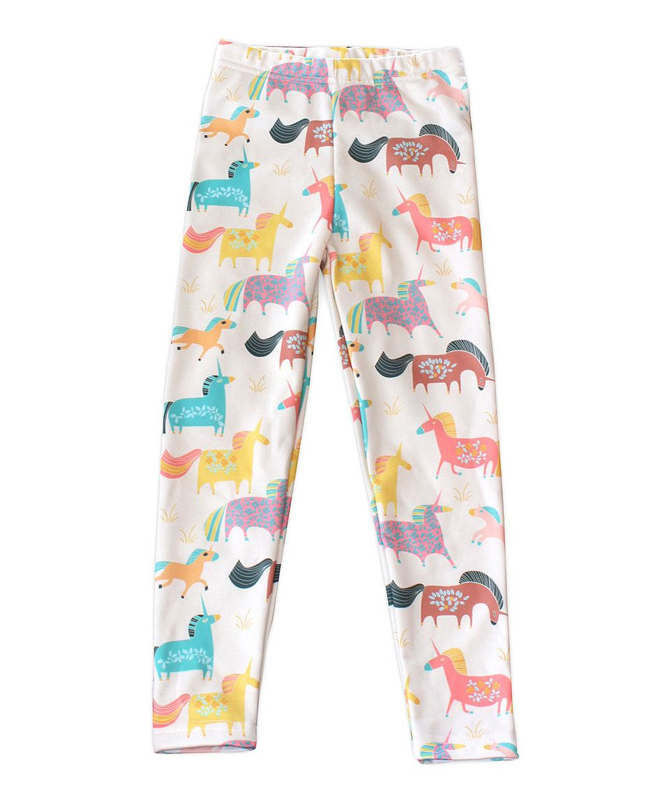 Take a look at this cream unicorn leggings infant toddler u girls