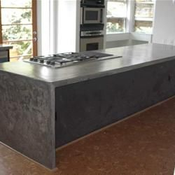Side Wider Than Support Concrete Countertops