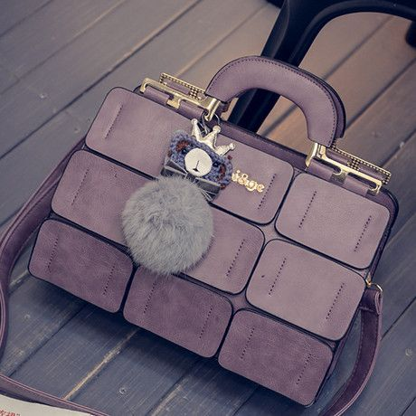Bags 2016 shoulder bag sewing thread for BOSS bag fur handbag messenger bag