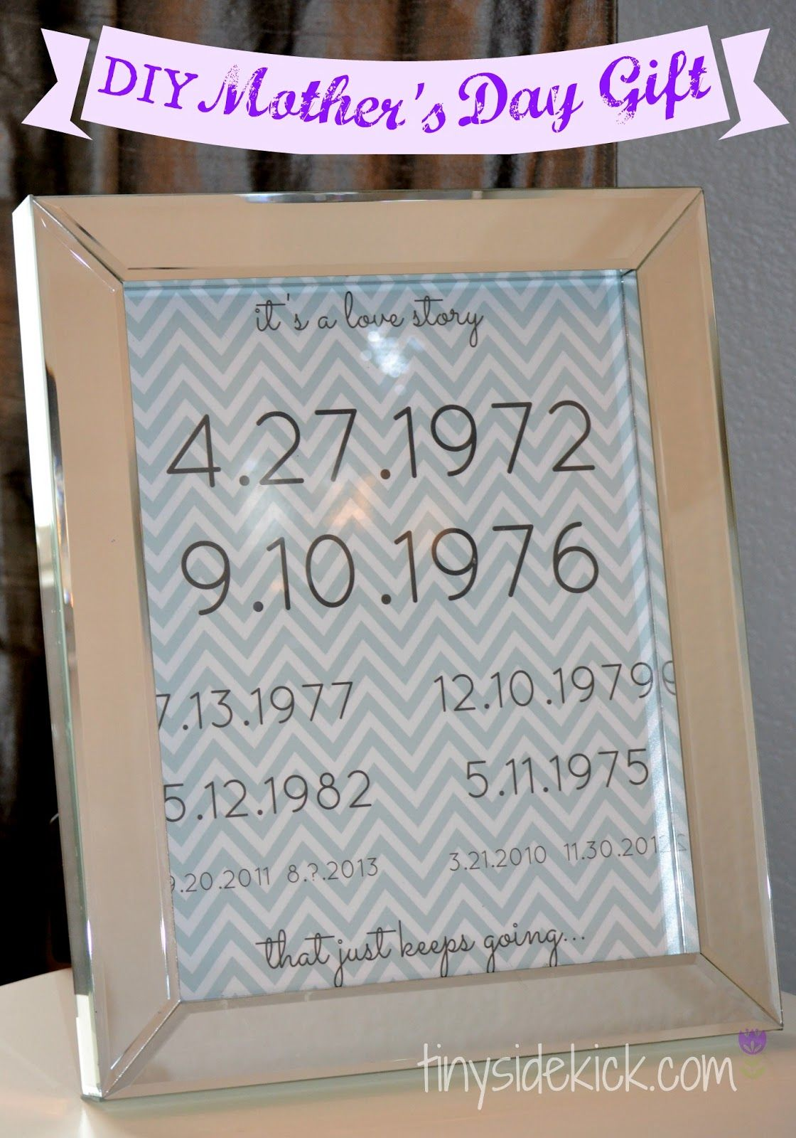 Diy Mothers Day Gifts From Baby Easy Diy Personalized Mothers Day Gift Important Dates
