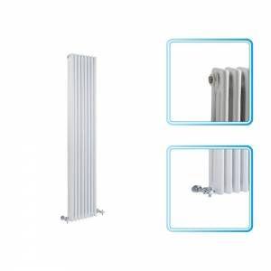 1800mm x 383mm - White Upright Triple Column Traditional Radiator - £125, 7474btu