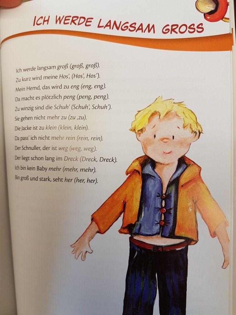 Ich werde langsam groß #kita #kindergarten #erzieher #reim ...