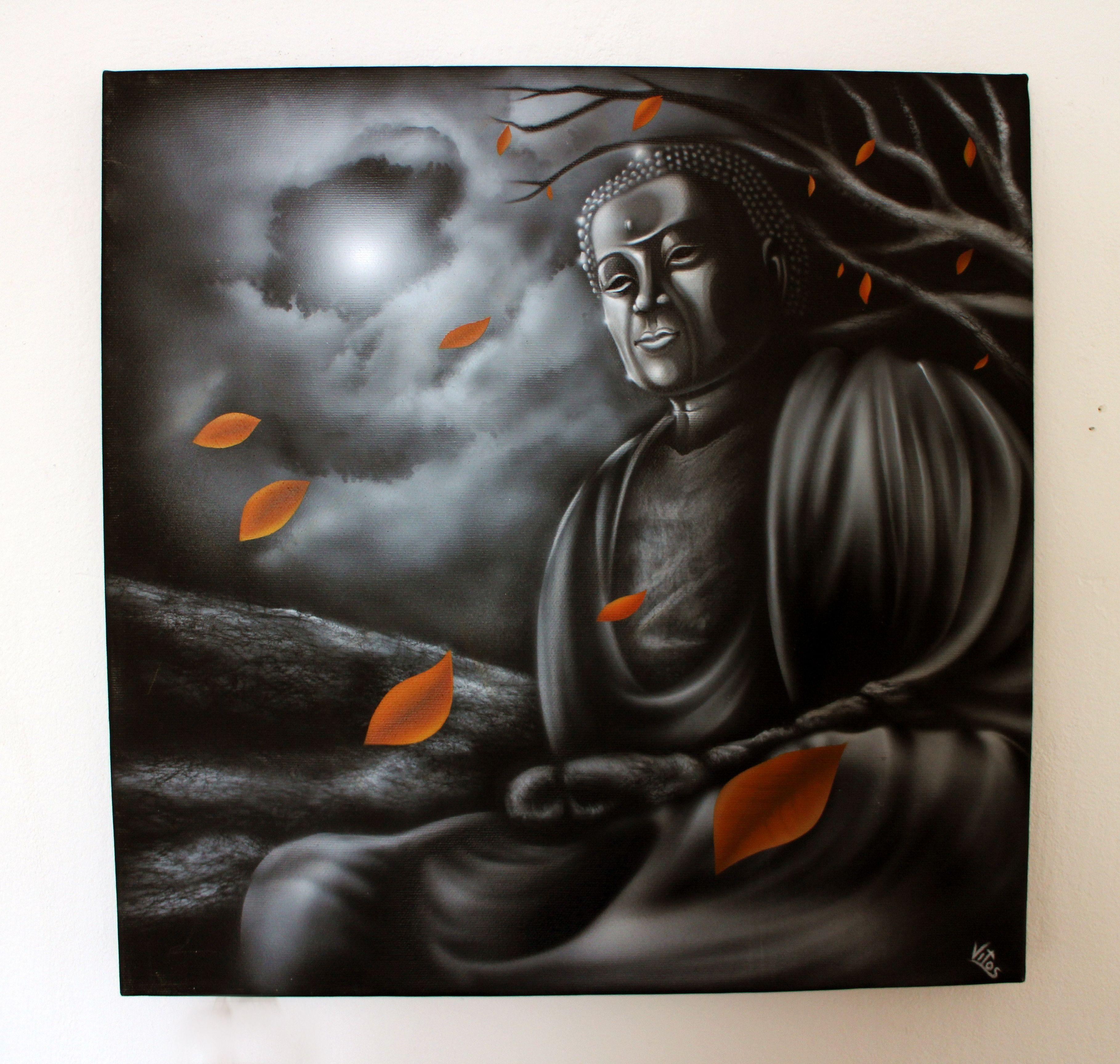 Buddha Airbrush Painting Canvas Art In 2019