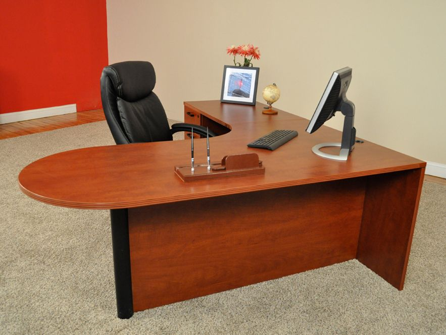 72 X 78 Bullet L Shaped Desk With Locking Box