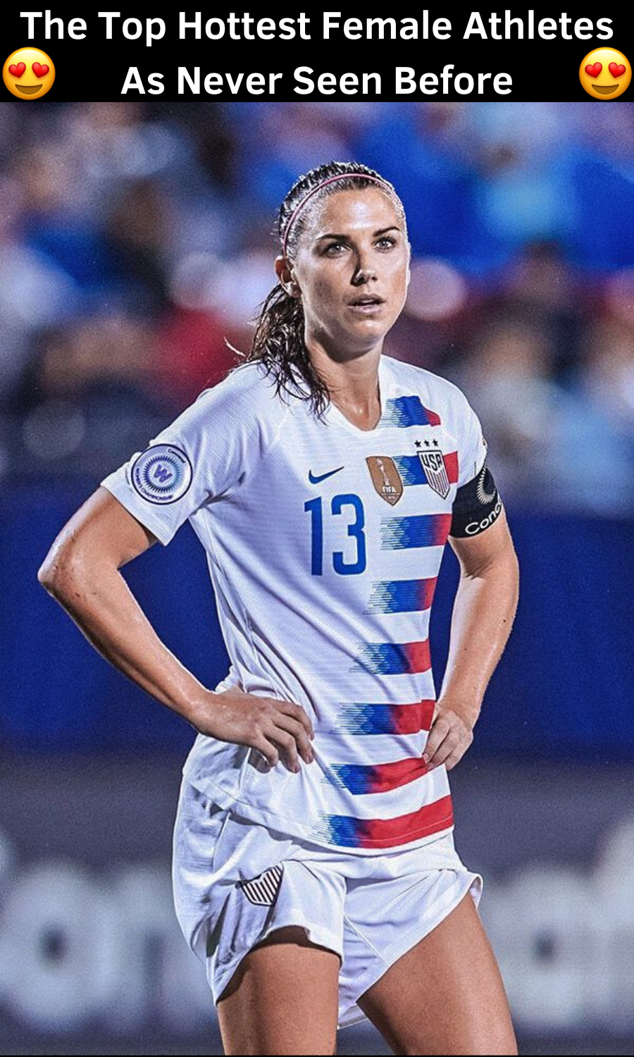 Olympic Gold Medallist And American Soccer Participant Alex Morgan 28 Has Been Ranked By Many Lists As The In 2020 Usa Soccer Women Female Athletes Women S Soccer Team