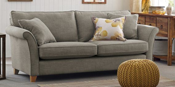 Grey Brompton Large Sofa 3 Seats From Next