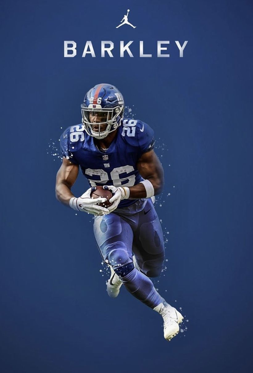 Barkley In 2020 Nfl Football Art Nfl Football Wallpaper Ny Giants Football