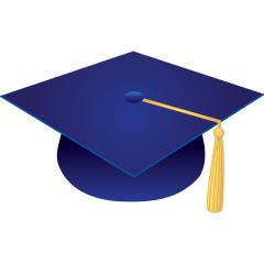 Image Result For Image Of Dark Blue Graduation Cap Blue Graduation Graduation Cap Edible Images