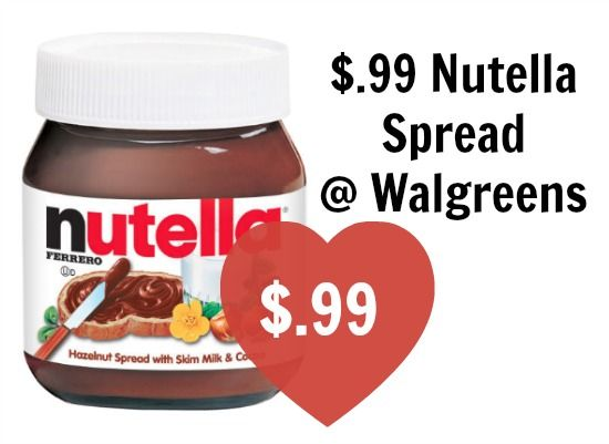 Get your SPOONS Ready for this deal! Nutella at Walgreens AND CVS for a $1 or less!  Click the link below to get all of the details ► http://www.thecouponingcouple.com/great-deals-on-nutella-spread-walgreens-cvs/  #ExtremeCouponing #Coupons #Couponing #CouponCommunity